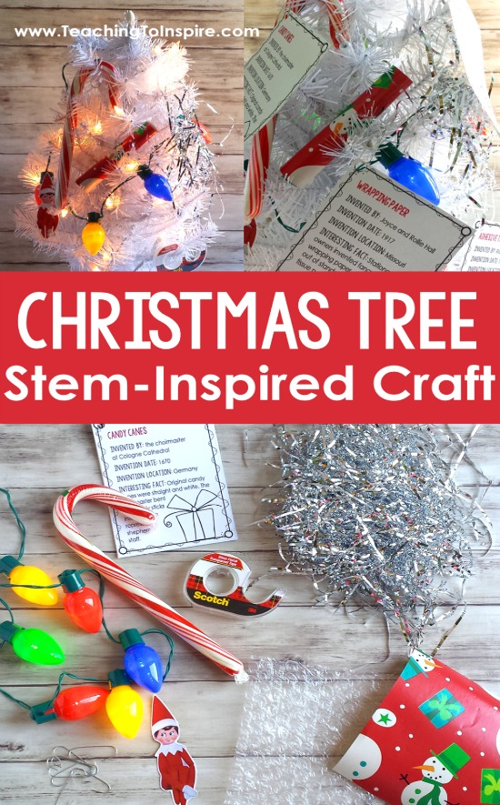 """Christmas Tree of Inventions! Learn about common """"Christmas"""" items and the history of their inventions with this engaging Christmas craft activity."""