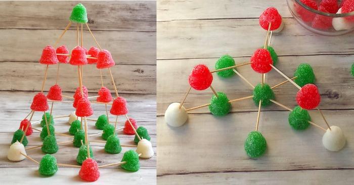 Christmas Stem Challenges.Christmas Stem Activity Gumdrop Christmas Tree Teaching