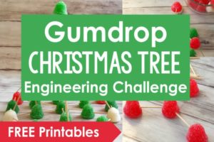 Christmas STEM Activity: Gumdrop Christmas Tree