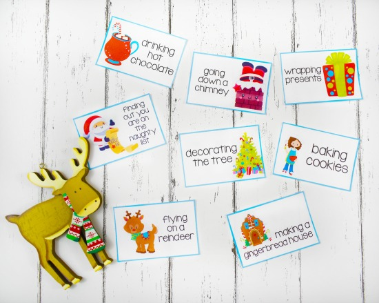 Free Christmas charades cards and other Christmas games for parties on this post.