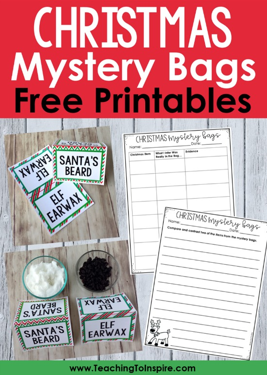 This Christmas mystery bag activity is a great Christmas party activity or behavior incentive for your students. Read more about how to set this up in your classroom and grab some free writing printables on this post.