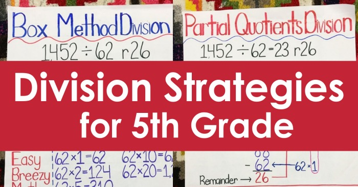 Division Strategies for 5th Grade - Teaching with Jennifer ...