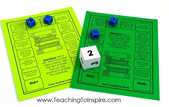 FREE reading comprehension game boards to go with any texts or books that the students are reading