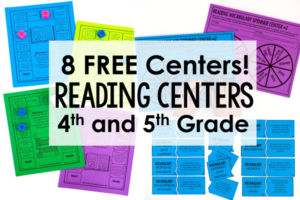 FREE Reading Games and Centers for 4th and 5th Grade