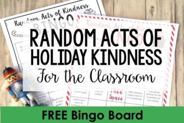 Random Acts of Kindness Ideas for Students: FREE Christmas RAK Bingo