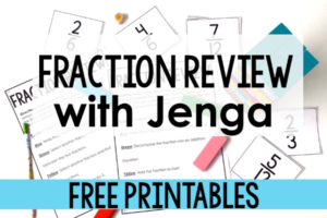 Free Fraction Game | Jenga Fraction Review