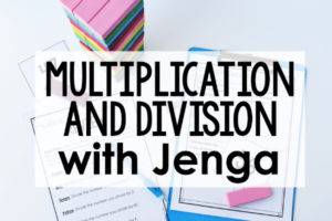 Multiplication and Division Game with Jenga Blocks