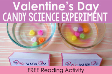 Dissolving candy hearts in various temperatures of water is an engaging Valentine's Day science activity that your students will enjoy. Download free printables (including an introductory background building reading passage) on this post.