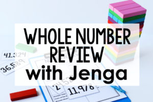 Whole Number Game | FREE Jenga Game