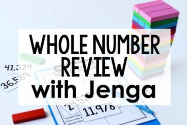 Whole Number Game | FREE Jenga Game