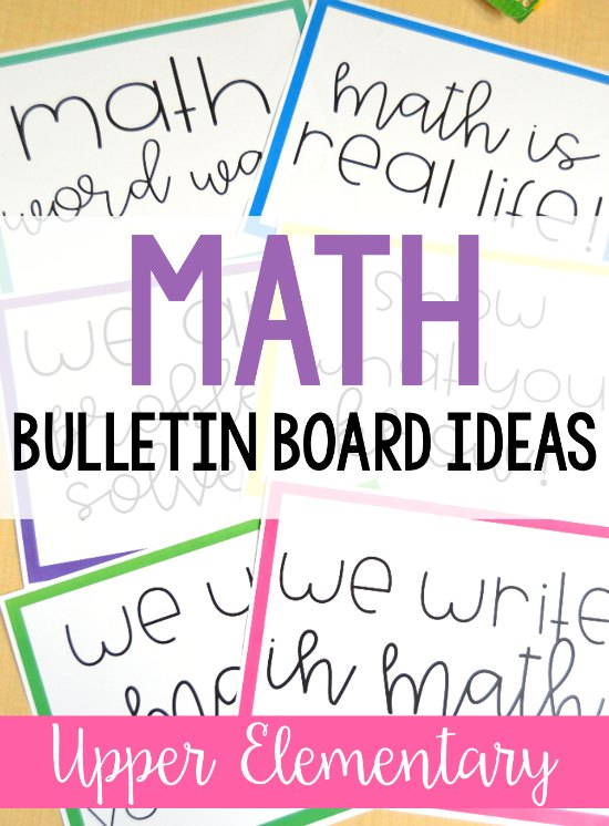 Math Bulletin Boards For Upper Elementary Teaching With Jennifer Findley