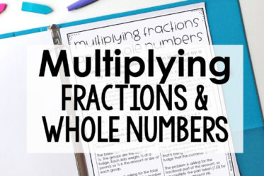 Multiplying Fractions and Whole Numbers: Two Types of Problems