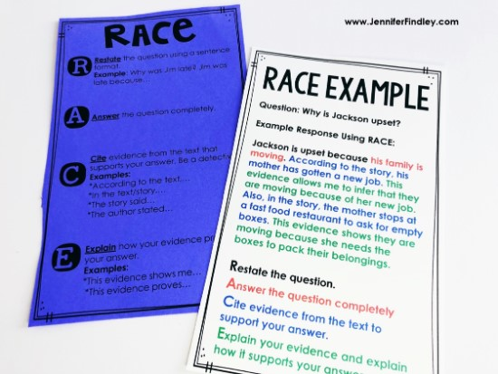 Color coding the different parts of a constructed response answer is a great way to support and scaffold students. Grab freebies on this post and read more tips for using RACE to answer constructed response questions.