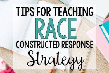 Using the RACE strategy is an effective way to help students answer constructed response reading questions. Read tips for using this strategy on this post.