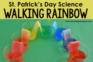 St. Patrick's Day Science Activity | Walking Rainbow