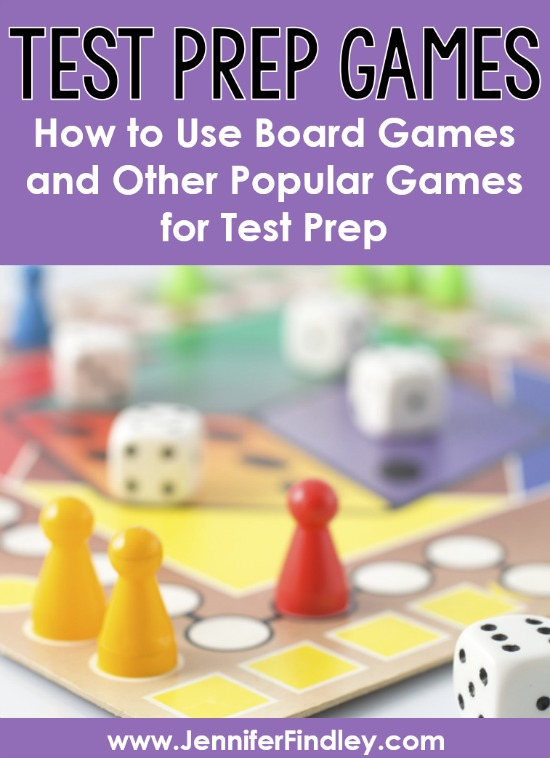 FUN test prep! This post shares details of how you can use any board game or other popular games as test prep games that are highly engaging and motivating.