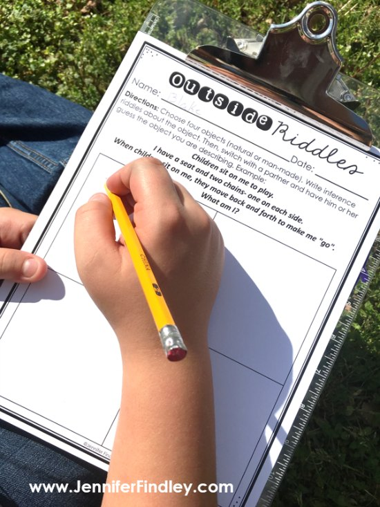 Outdoor writing activities are the perfect way to get your students outside and learning. Read more on this post!