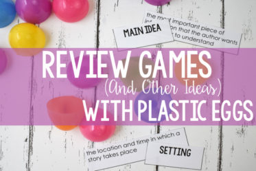 Using plastic eggs in the classroom is a fun break from the norm. Need some engaging ideas other than just for egg review hunts? This post shares several review games just for plastic eggs...but they can be used all year long!