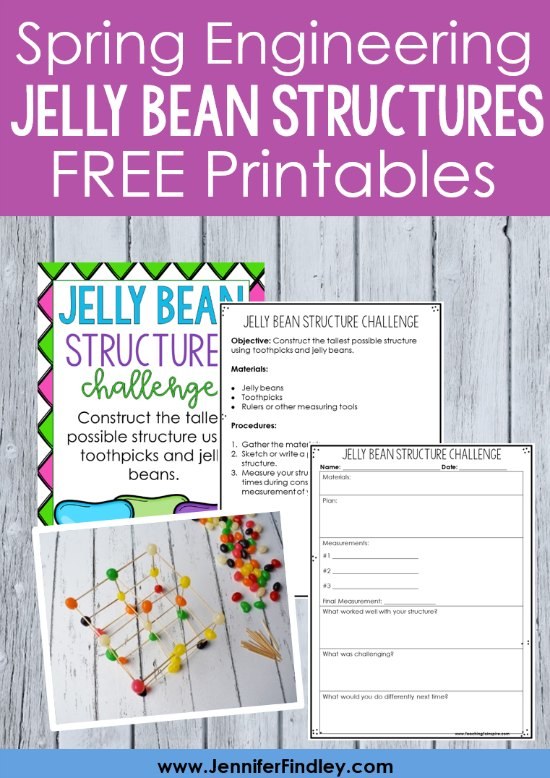 Having your students build jelly bean structures is an engaging spring engineering activity that your students will love! Read more and grab free printables on this post.