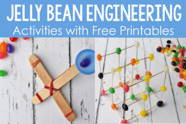 These spring engineering activities with jelly beans are engaging for the students, allow them to problem solve, and practice math skills.