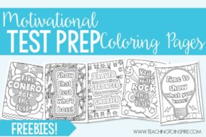 Test Prep Coloring Pages | Motivational Quotes for Testing