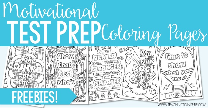 Test Prep Coloring Pages Motivational Quotes For Testing