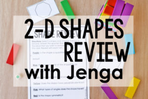 2-D Shapes Game with Jenga Blocks | Free Printables