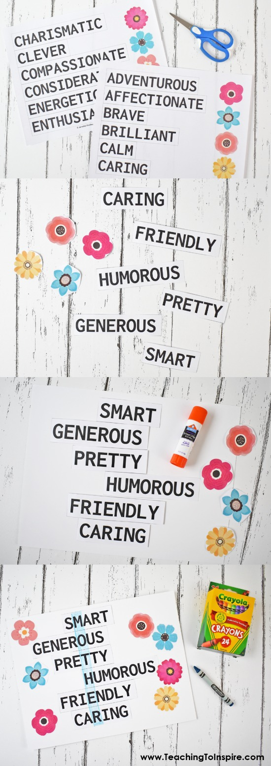 These adjective poems are a unique, personal, and fun Mother's Day gift idea. Grab the free printables to have your students make these and read more Mother's Day gift ideas on this blog post.