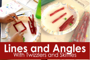 Lines and Angles Activities with Twizzlers and Skittles