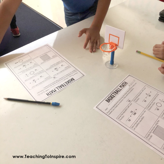 Need a fun fraction review game? Try this basketball review where the students shoot hoops and then use that to review key fraction skills. 4th and 5th grade version included!