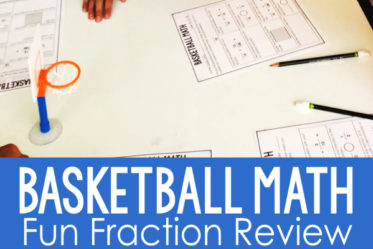Basketball Fraction Review for 4th and 5th Grade