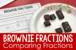 Comparing Fractions Activity with Brownies