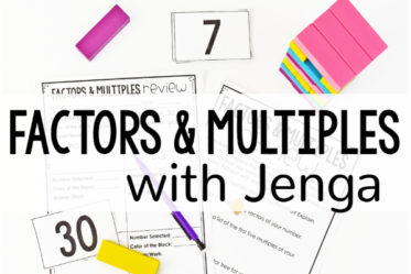 Want to review factors and multiples in an engaging way? Click through to read about and download a FREE factors and multiples game for 4th-5th grade using Jenga blocks.