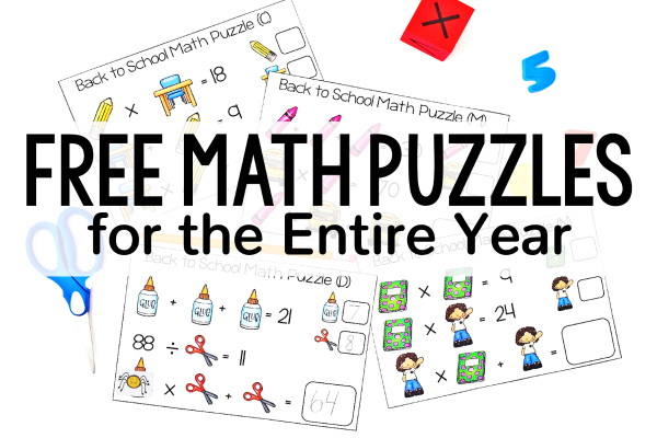 Free Math Puzzles for the Entire Year | Seasonal and Holiday