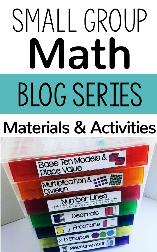 Wondering what to use for your small groups in math? Check out this post for my favorite resources for small group math instruction, including FREE printable math manipulatives.