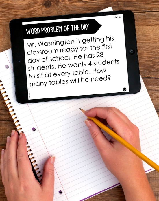 Word problem of the day is a great way to incorporate word problems into your instruction on a regular basis. Grab these FREE word problem of the day starter packs for 4th and 5th grade on this post.