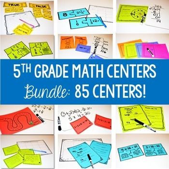 5th grade math centers for the ENTIRE year!!