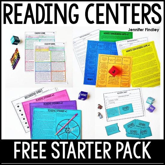 Reading games and centers are a great way to spice up your reading instruction and have your students practice important reading skills. Grab a free reading centers starter pack on this post!