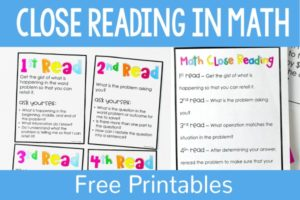 Close Reading in Math for Upper Elementary