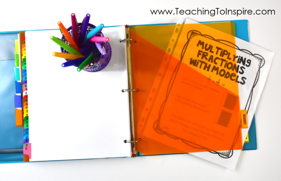 Read how one teacher organizes her guided math binder and what she keeps inside! Free guided math binder forms on the post!