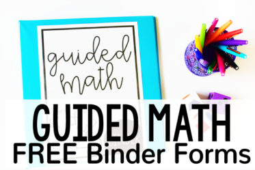 Free Guided Math Binder for Upper Elementary