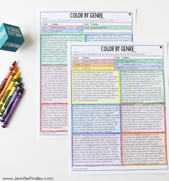 FREE Color by Reading Activity! Reading games and centers are a great way to spice up your reading instruction and have your students practice important reading skills. Grab a free reading centers starter pack on this post!