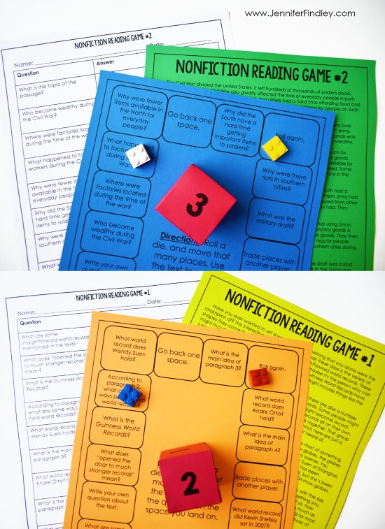 Free reading comprehension games for 4th and 5th graders at the beginning of the year! Reading games and centers are a great way to spice up your reading instruction and have your students practice important reading skills. Grab a free reading centers starter pack on this post!