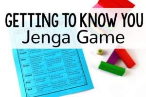Getting To Know You Activity with Jenga
