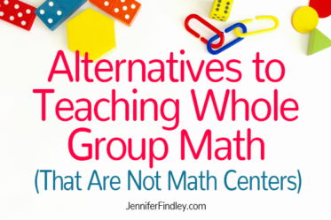 Sometimes math centers may not work for your students. This post will share two alternatives to teaching whole group math that are not math centers.
