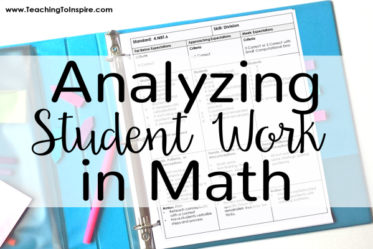 Analyzing Student Work in Math