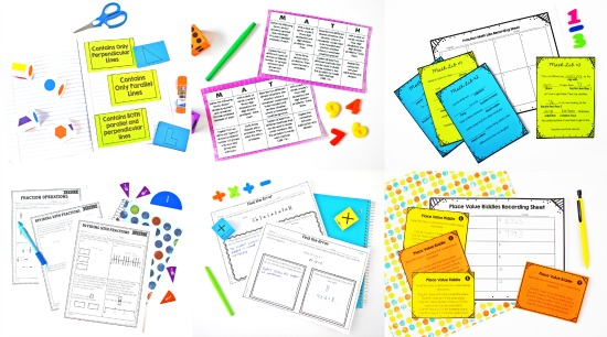 Free math activities and centers for grades 3-5
