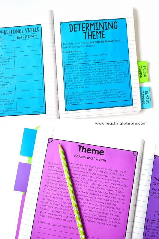 Reading notebooks are a great way to anchor your students' learning. Click through to read more about how a 5th grade teacher uses reading notebooks in her classroom.