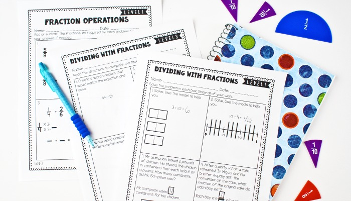 Easily differentiate your math instruction with these differentiated math skill sheets that come in three levels.