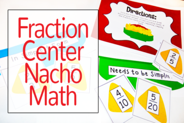 Free Fraction Center {Nacho Math}